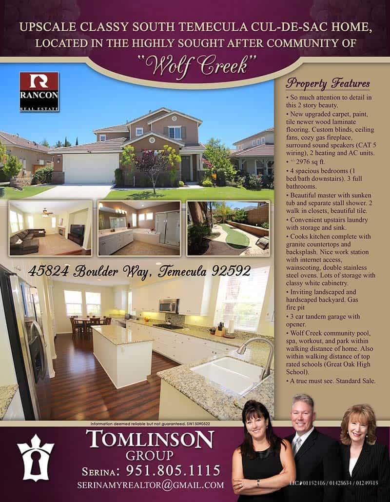 marketing your home our strategic marketing plan property flyers