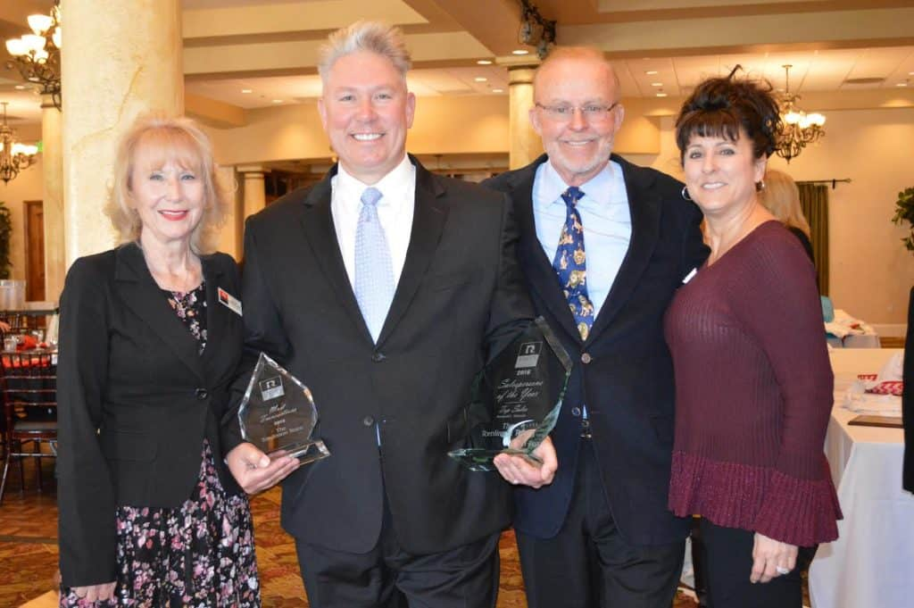 Jan Tomlinson, Eric Tomlinson, Dan Stephenson, Serina Tomlinson February 23, 2017 Rancon Real Estate Awards Ceremony, Temecula, CA