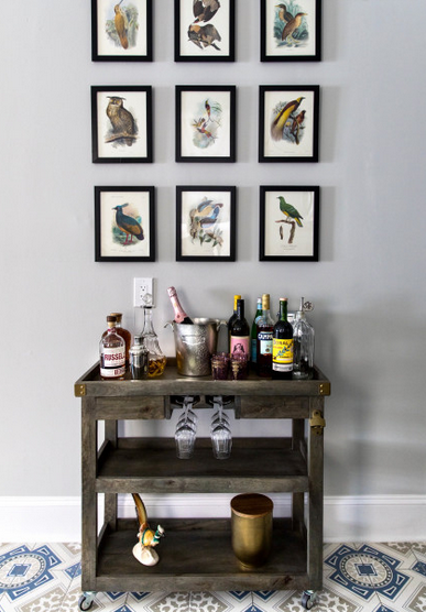 12 Stylish Cart Setups to Inspire Your Home Bar 1